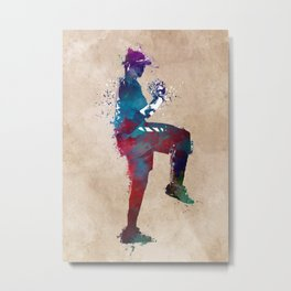 Baseball player 6 #baseball #sport Metal Print