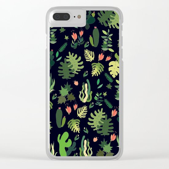 tropical! Clear iPhone Case
