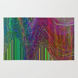 Glitch Space background Rug