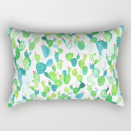 Watercolour Cacti Rectangular Pillow
