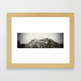 Donner Pass Snow Tunnel Framed Art Print
