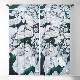 Icelandic glacier icebergs from above - Landscape Photography Blackout Curtain