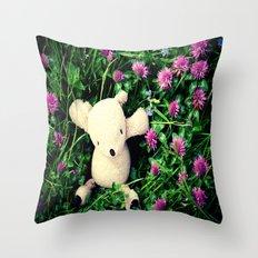 Clover Fields Throw Pillow