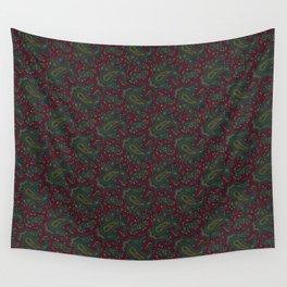 Ramona Paisley - Burgundy Wall Tapestry