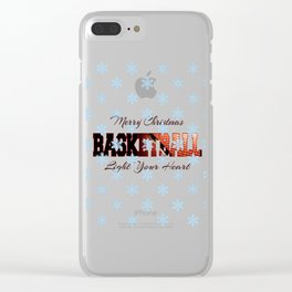 Basketball In Christmas Clear iPhone Case