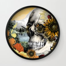 Reflections of Halloween Wall Clock