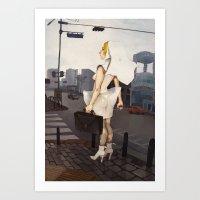 seoul Art Prints featuring Seoul tour  by MYLÈNE BRAGINA