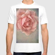 Romantic Rose MEDIUM Mens Fitted Tee White