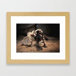 Cockfighting 4 Framed Art Print