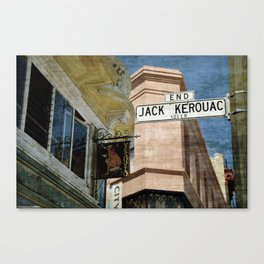 Jack Kerouac Alley and Vesuvio Pub Canvas Print