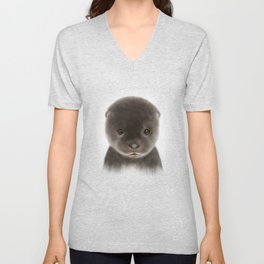 Baby Otter Unisex V-Neck