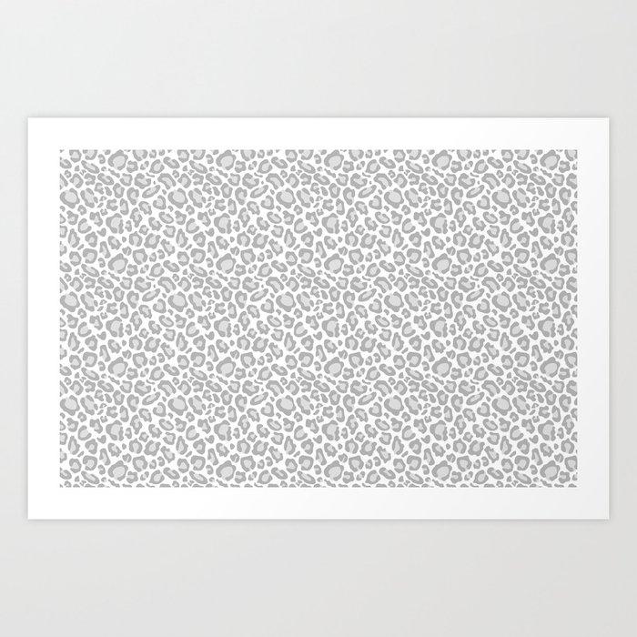 Grey Leopard Print Kunstdrucke
