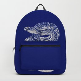 HOMEMADE BLUE SNAKE PATTERN Backpack