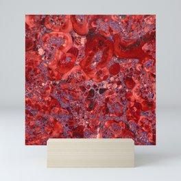 Marble Ruby Blood Red Agate Mini Art Print