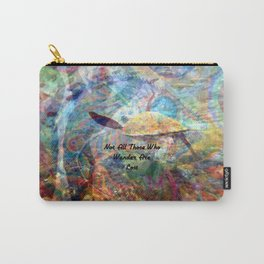 Not All Who Those Wander Are Lost Inspirational Quote With Beautiful Sea Turtle Painting Carry-All Pouch
