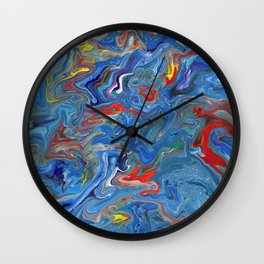 Abstract Oil Painting 21 Wall Clock