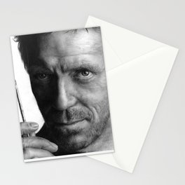 Dr. House pencil drawing fanart Stationery Cards