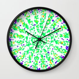 Green and Blue Geometric Shape Modern Abstract Wall Clock