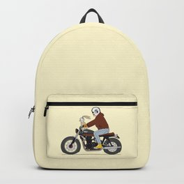 Bunny riding triumph Backpack