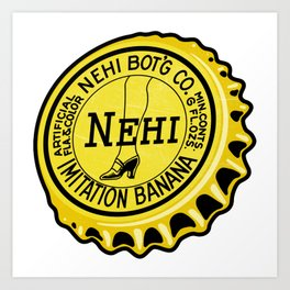 Vintage Nehi Imitation Banana Soda Pop Bottle Cap Art Print