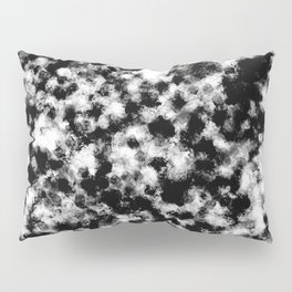 Dusty Black And White - Abstract painting Pillow Sham