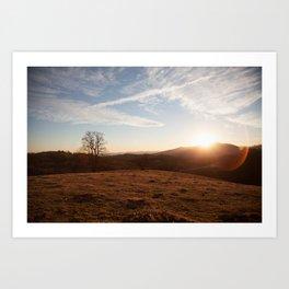 Hillside Sunset Art Print