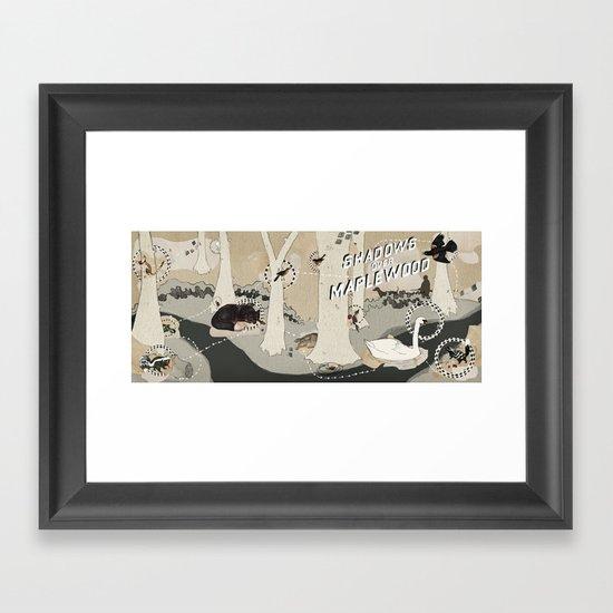 shadows over maplewood Framed Art Print