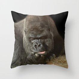 Oumbi The Silverback Throw Pillow