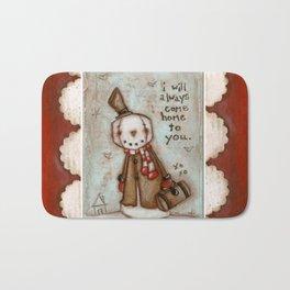 I Will Come Home - Travelin' Snowman in Love Bath Mat