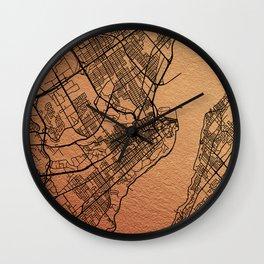 Quebec map Wall Clock