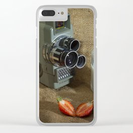 Sekonic and Strawberries Clear iPhone Case