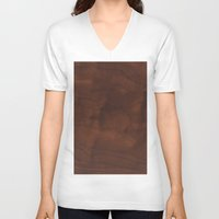 wood V-neck T-shirts featuring Wood by Adoryanti