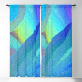 Blue Morning View, Abstract Blackout Curtain
