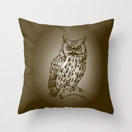 Great Owl Throw Pillow