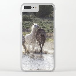 Splashing About At The Waterhole Clear iPhone Case