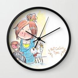 Cat & Cocoa Wall Clock