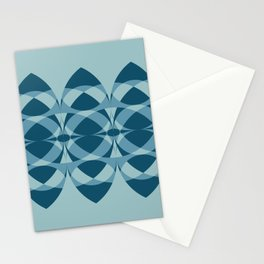Surfboards in Aqua Stationery Cards