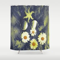 gothic Shower Curtains featuring Gothic Night by Pepita Selles