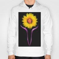 sunflower Hoodies featuring Sunflower by Walter Zettl
