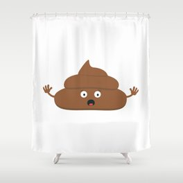 Frightened poo Shower Curtain