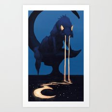 Moon Tears Art Print