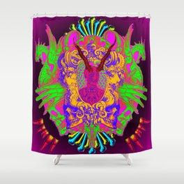 Colorful Headache Shower Curtain