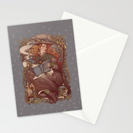 NOUVEAU FOLK WITCH Stationery Cards