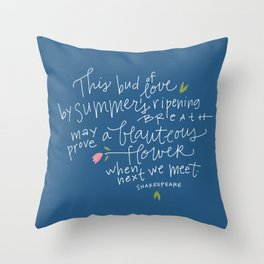 Juliet+Romeo Throw Pillow