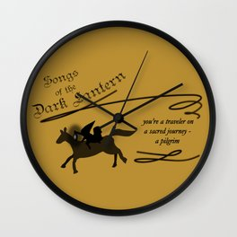 Songs of the Dark Lantern Wall Clock
