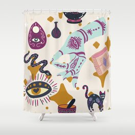 Twist the Bones and Bend the Back Shower Curtain
