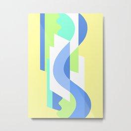 SUISSE - Art Deco Modern: FRESH WATER & SUNSHINE Metal Print