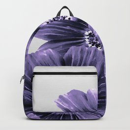 Daisies floral in soft lavender hues Backpack