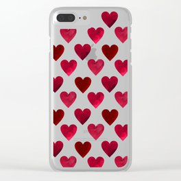 Red love hearts for my Valentine Clear iPhone Case