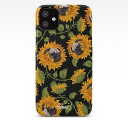 Pug Sunflowers iPhone Case